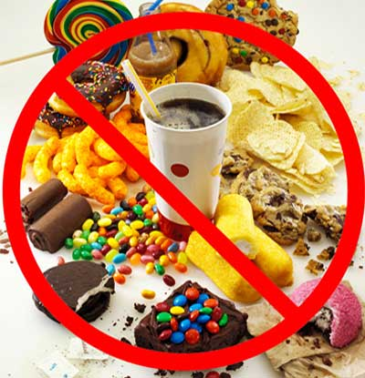 Limit junk food
