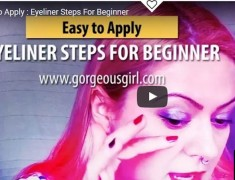 Easy To Apply: Eyeliner Steps For Beginners