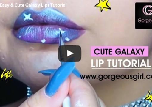Easy & Cute Galaxy Lips Tutorial