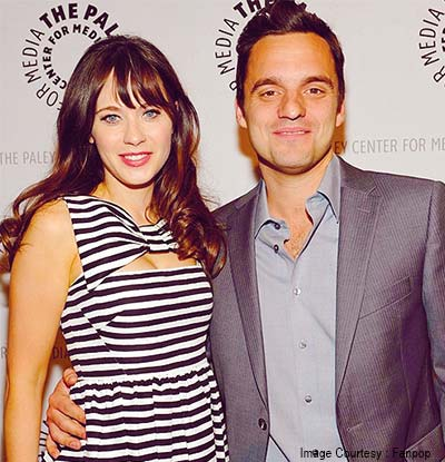 Jake Johnson and Zooey Deschanel