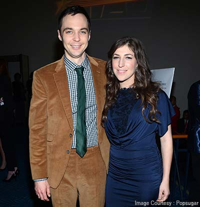 Jim Parson and Mayim Bialik