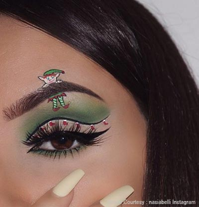 Matte Christmas eye makeup