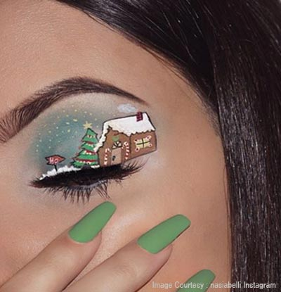 Santa's snowland eye makeup