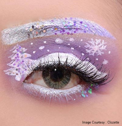 Soft Christmas eye makeup