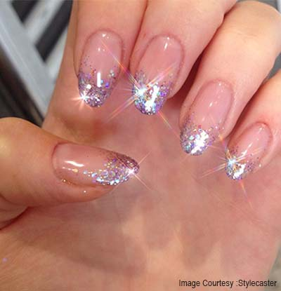 Glittery French Tip