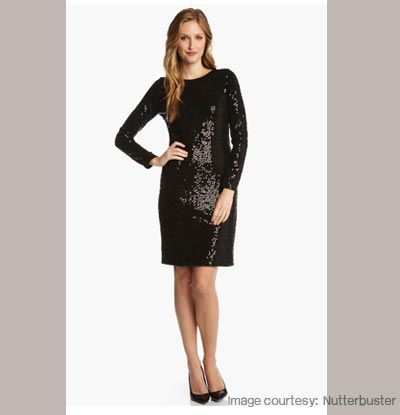 Glittery Sweater Dress