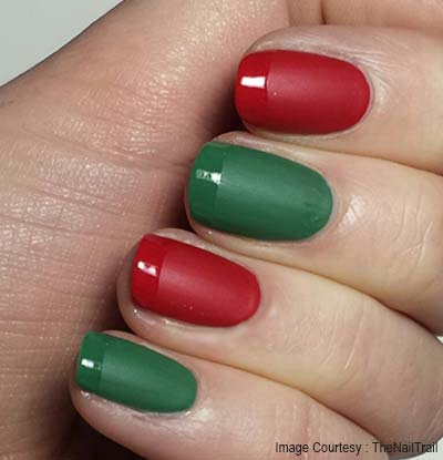 Matte Green and Red