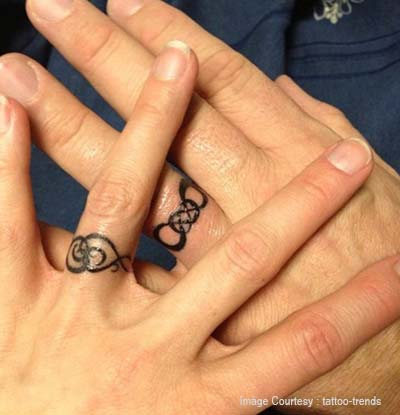 Stack of ring tattoo on your fingers
