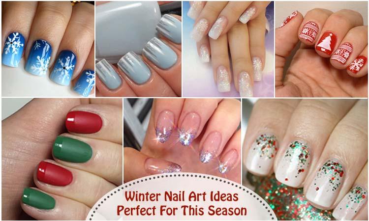 Winter Nail Art Winter Nail Colors Cute Winter Nail Designs