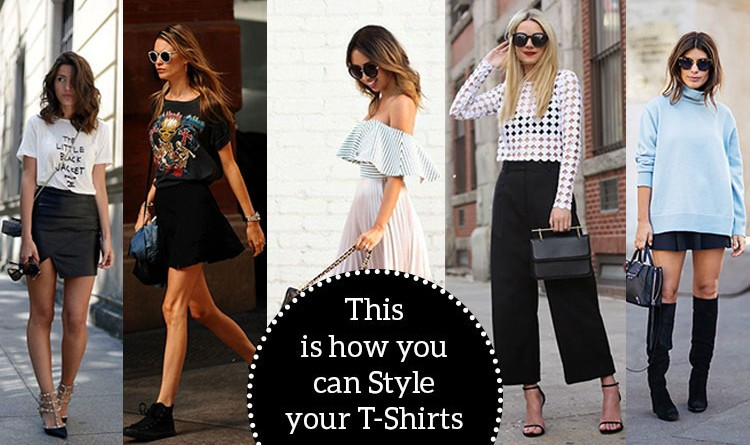how to style t-shirts