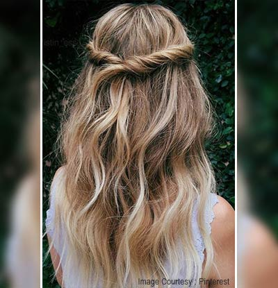 Twisted Half-Up Hairstyle