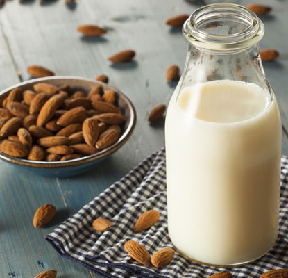 Almond and soy milk