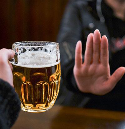 Eliminate alcohol
