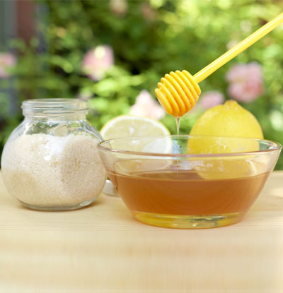 Lemon sugar honey mixture