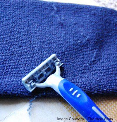 Get rid of pilling in your clothes using a shaver