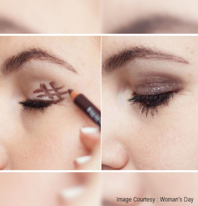 smoky eye with a hashtag