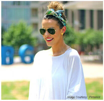 Topknot with headscarf