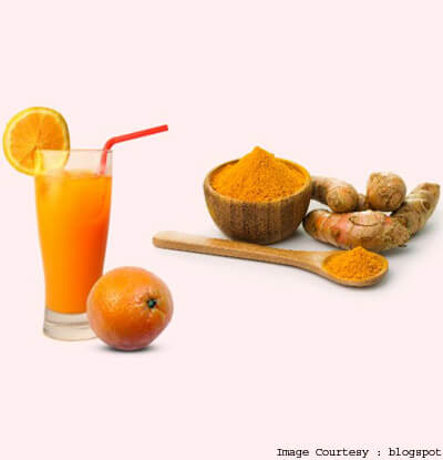 Take Advantage Of The Skin Lightening Properties Of Turmeric And Orange Juice