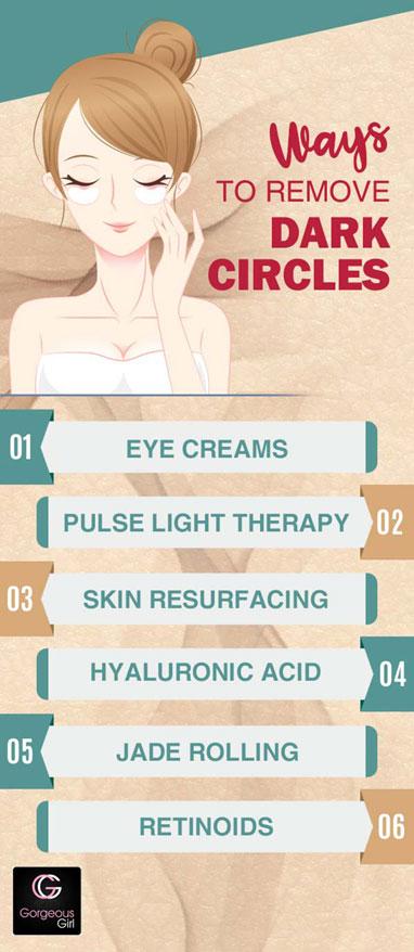 Ways to remove dark circles
