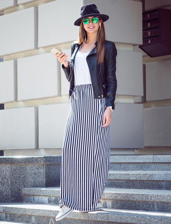 Womens Floor Length Maxi Skirt