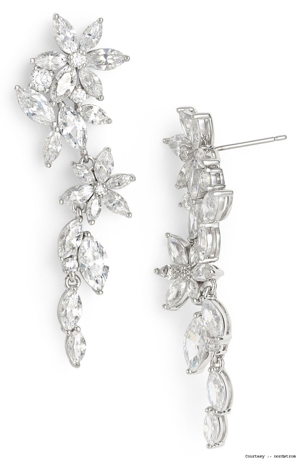 3. Floral Drop Earrings
