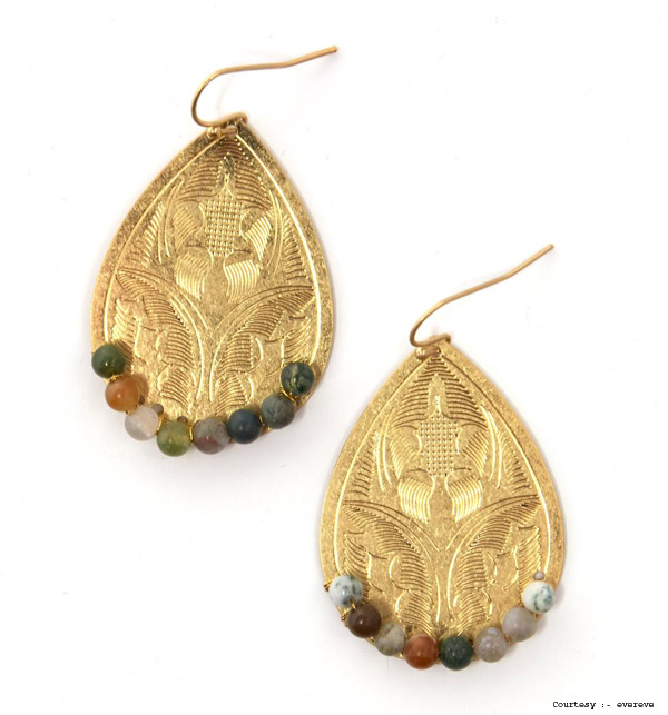 4. Beaded Disc Earrings