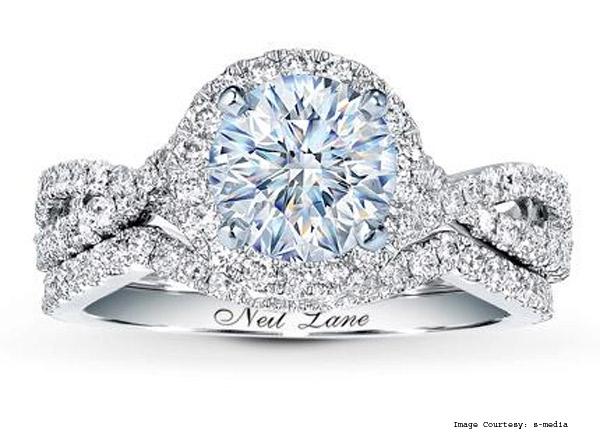 14K White Gold ¾ Carat Bridal Neil Lane Diamond Ring
