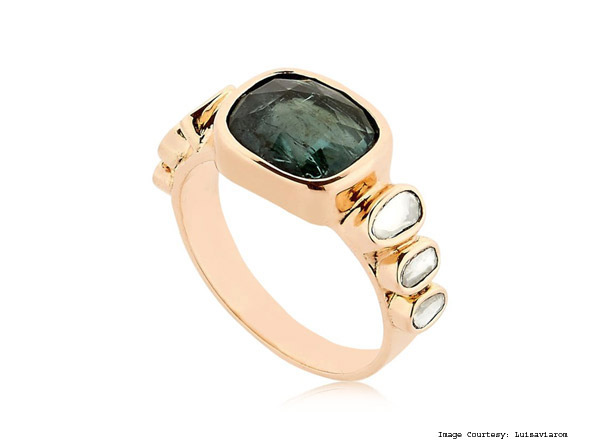Celine Daoust Tourmaline And Rose Gold Ring