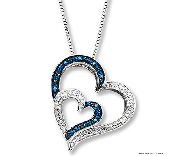 Diamonds Sterling 1/20 Ct Tw Silver Open Hearts Necklace
