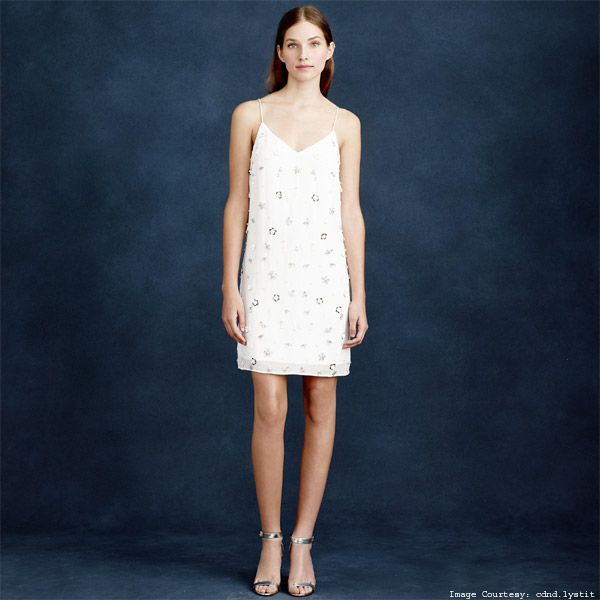 Floral-Embossed J.Crew Convertible Strap Dress