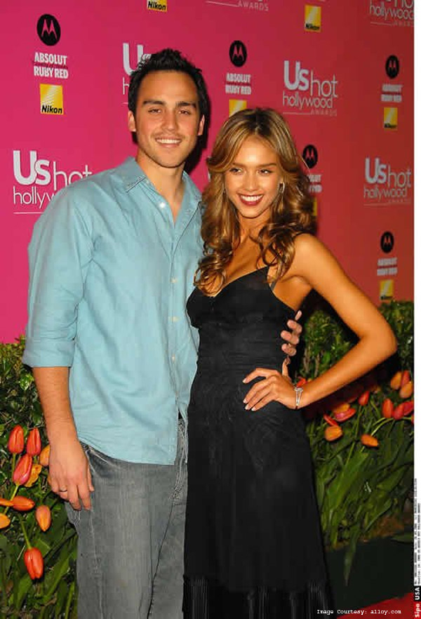 Joshua and Jessica Alba