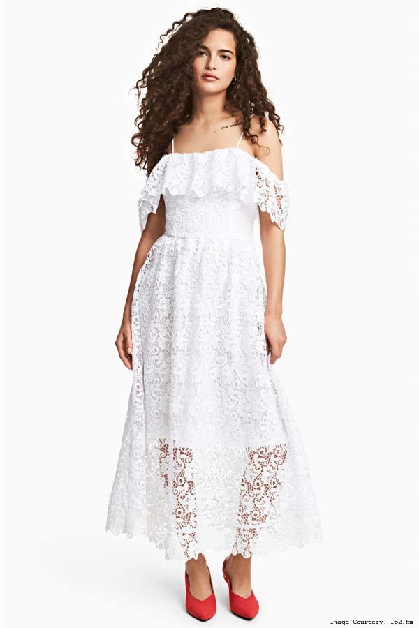Off-the-Shoulder H&M Lace Dress