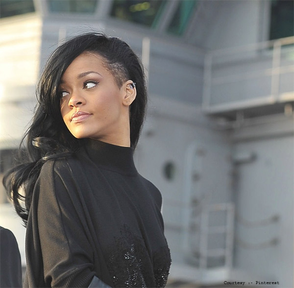 Shaved Side Cut of Rihanna