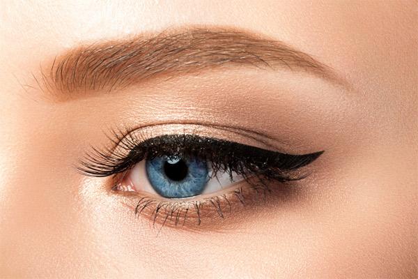 Sleeping in eyeliner
