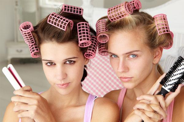 Straighten Your Hair Using Jumbo Rollers