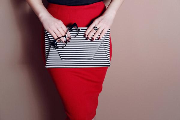 Striped Weekender Bag