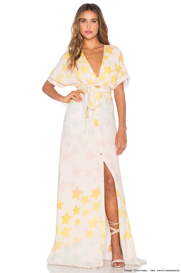 Tie-Front Mara Hoffman Maxi Dress