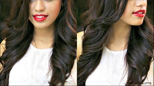fringed layered hairstyle with outward and inward curls