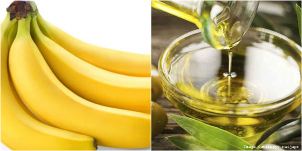 Olive oil and Banana Facial Mask