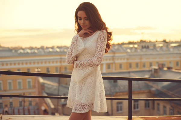 Peek-a- Boo Lace Dress