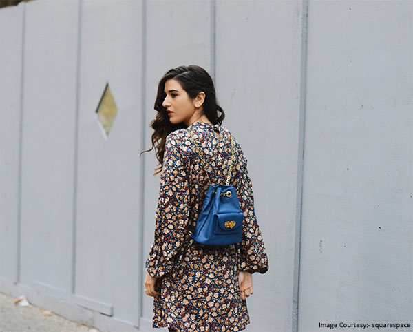 Floral Dress With Backpack