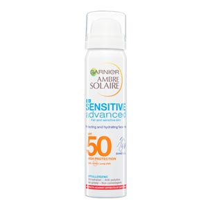 Garnier Ambre Solaire Sensitive Advanced Hydrating Face Sun Cream Mist SPF50