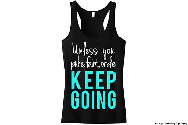 Workout Outfits with Motivational Quotes