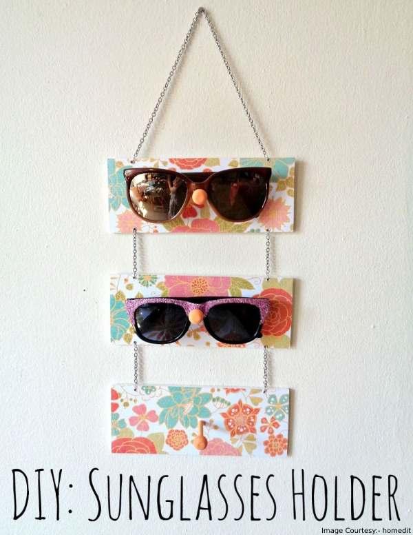 DIY glasses holder