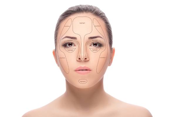 Face Map For Cheekbone Contouring