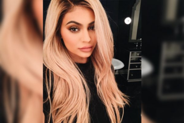 Kylie Rocking This Beautiful Blonde Wig