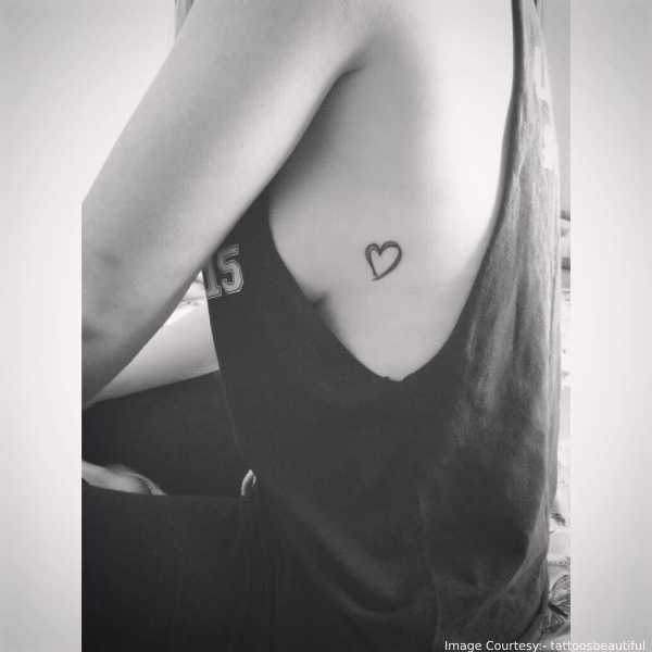 Breast Side Tattoo