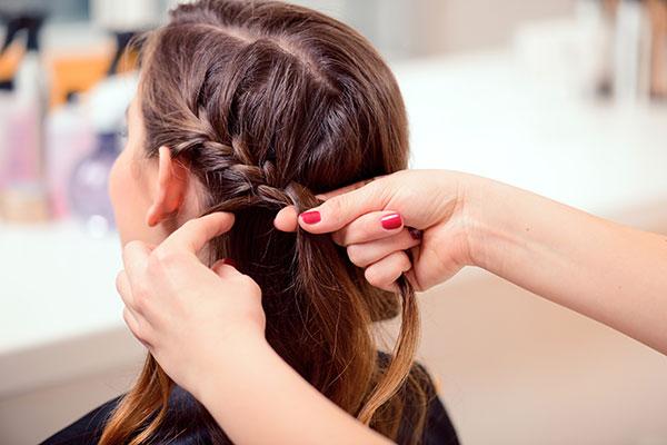 braiding the hair