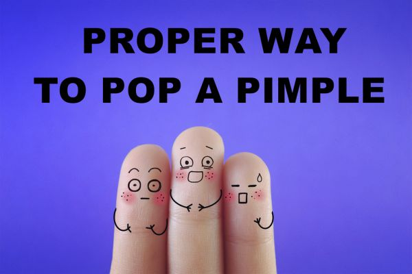Effective Way To Pop a Pimple