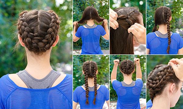milkmaid braid tutorial